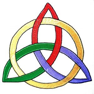 Multi-colored Trinity Knot (Triquetra)