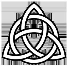 trinity triqueta black and white 228x221