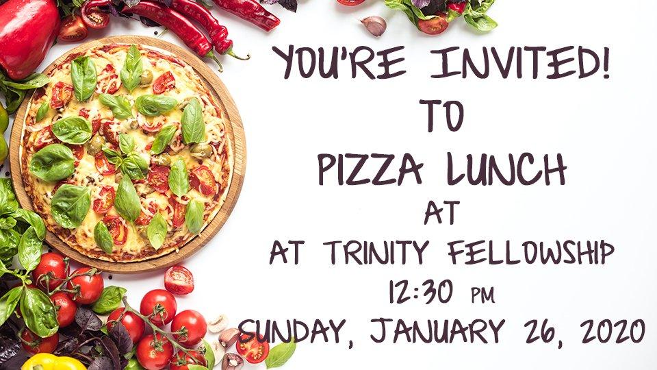 Pizza Lunch invite
